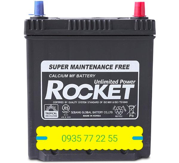 Ắc quy xe oto Rocket