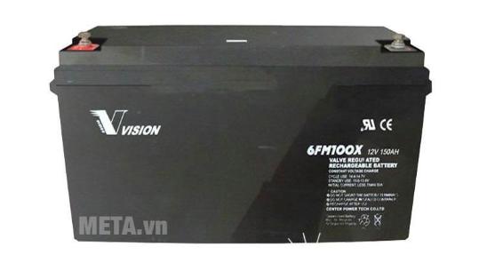 Ắc quy viễn thông Vision 100Ah công nghệ AGM (6FM100EX)